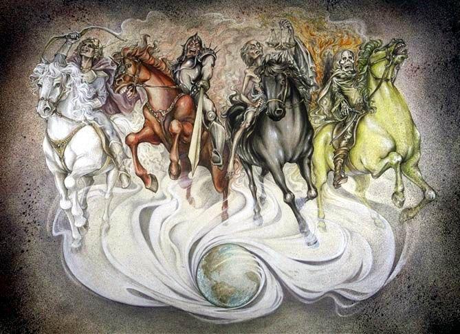 jinetes del apocalipsis | Apocalipsis, Jinete, Caballo blanco