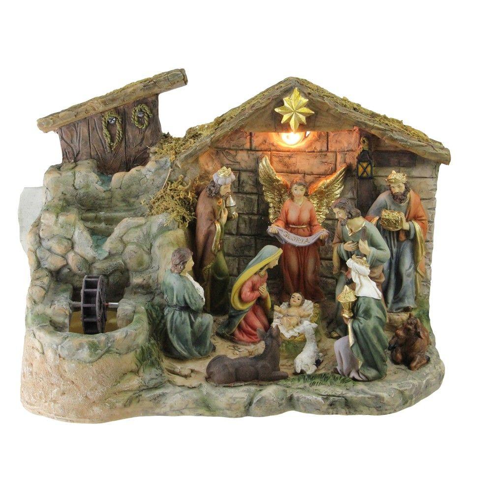 Nativity Scene tabletop white handmade