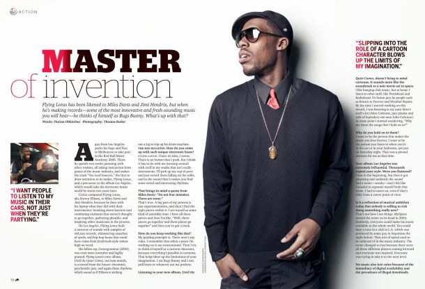 Flying Lotus in the October 2012 Red Bulletin magazine