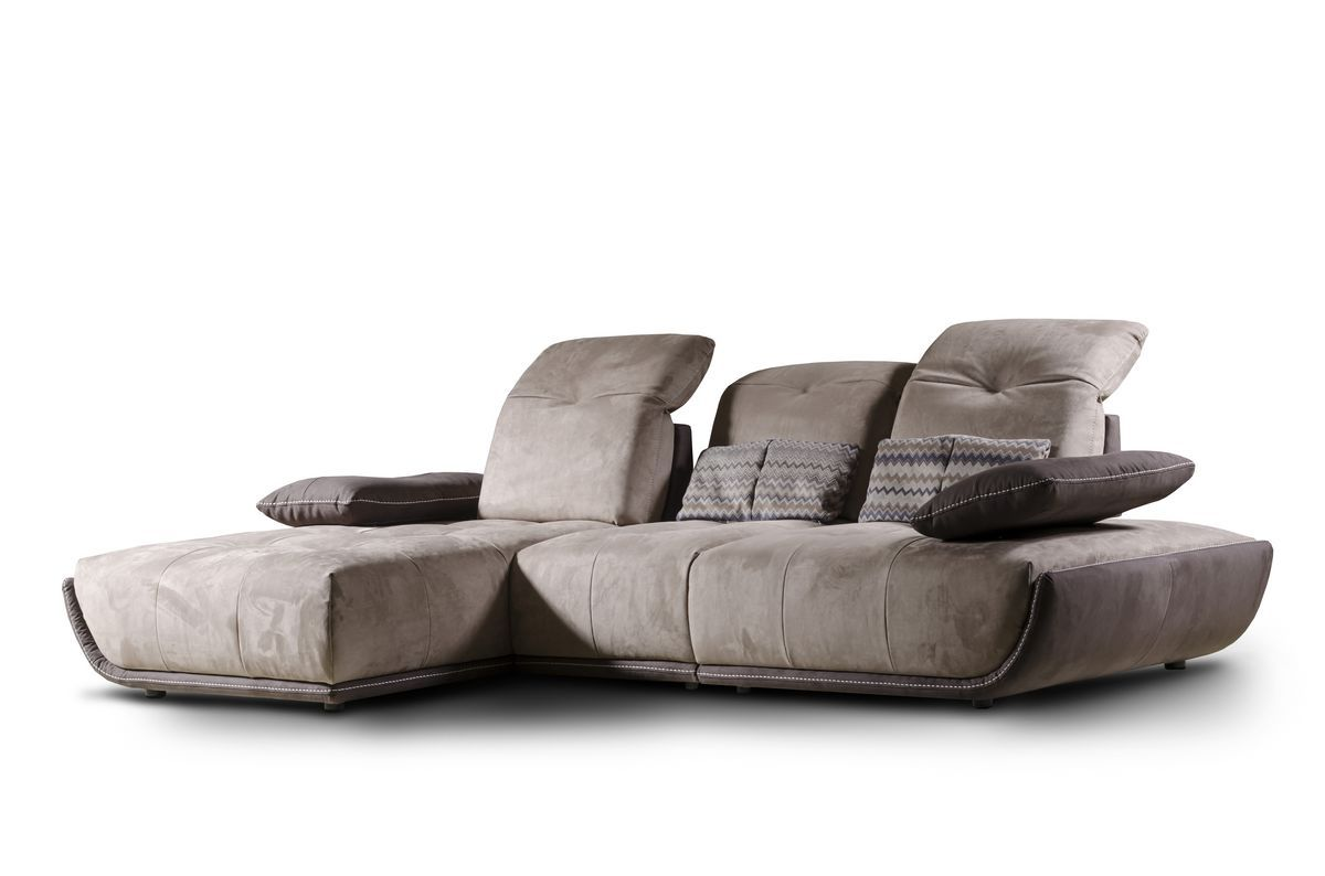 Sofa with chaise longue, reclining backrest Divani, Divano