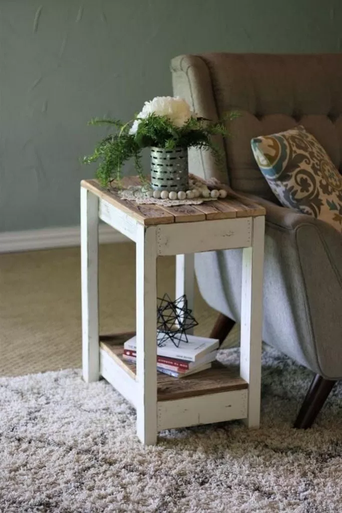 70 Cheap Diy Projects Ideas For Your Home Decoration Diyprojects Cheapdiy Homediyprojects Aac Table Decor Living Room Wood Furniture Diy Rustic End Tables