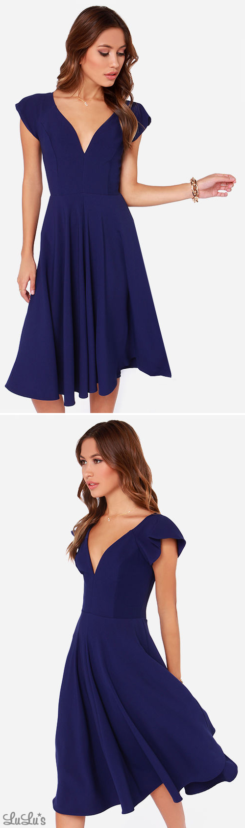 Lulus wedding guest dresses  Exclusive Skirts So Good Royal Blue Midi Dress  My Style
