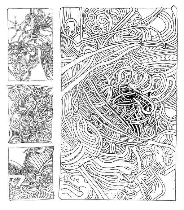 A Moebius page from Andrei Molotiu's Abstract Comics anthology