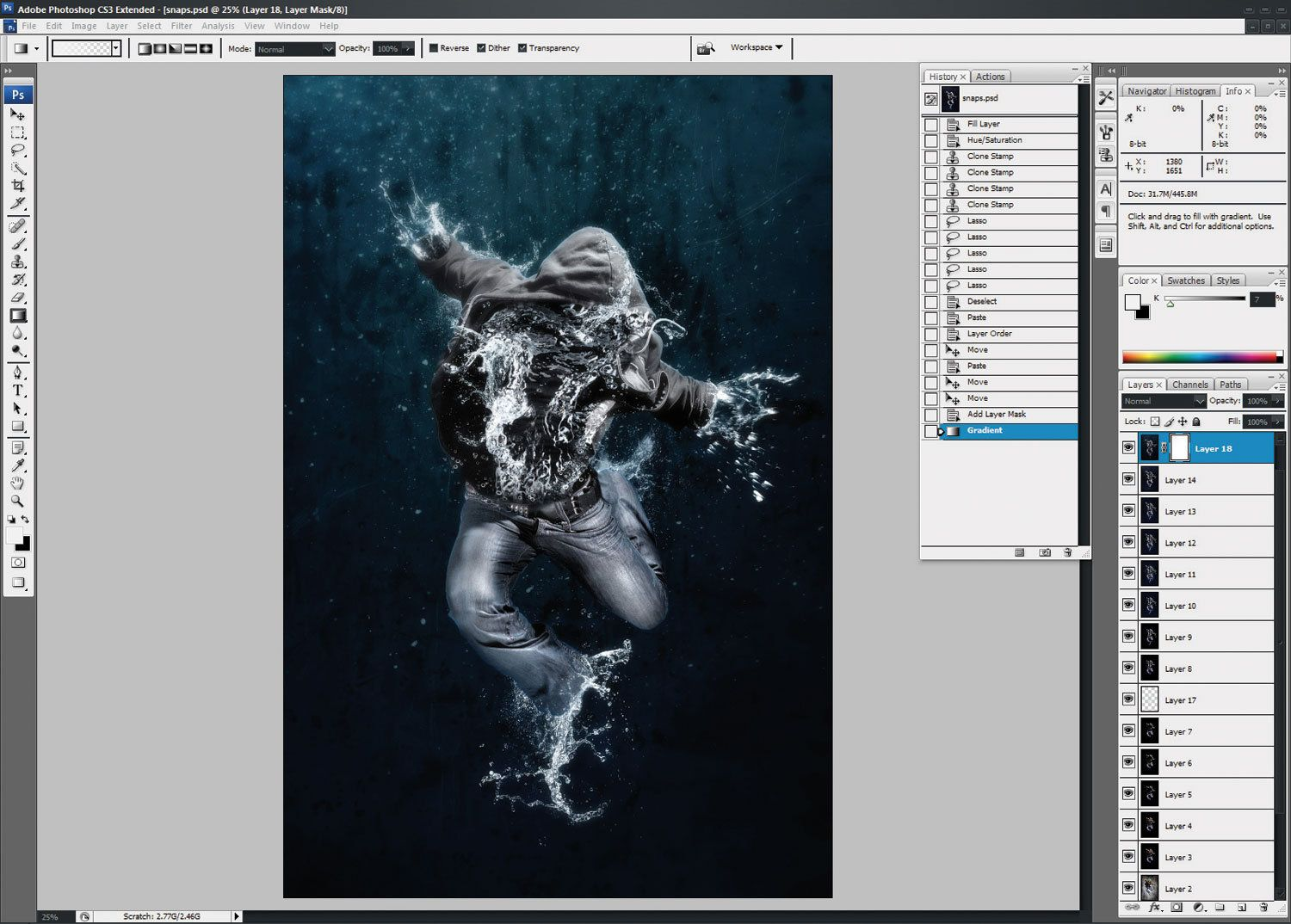 Photoshop tutorial create amazing water drenched photomontages photoshop tutorial create amazing water drenched photomontages digital arts baditri Image collections