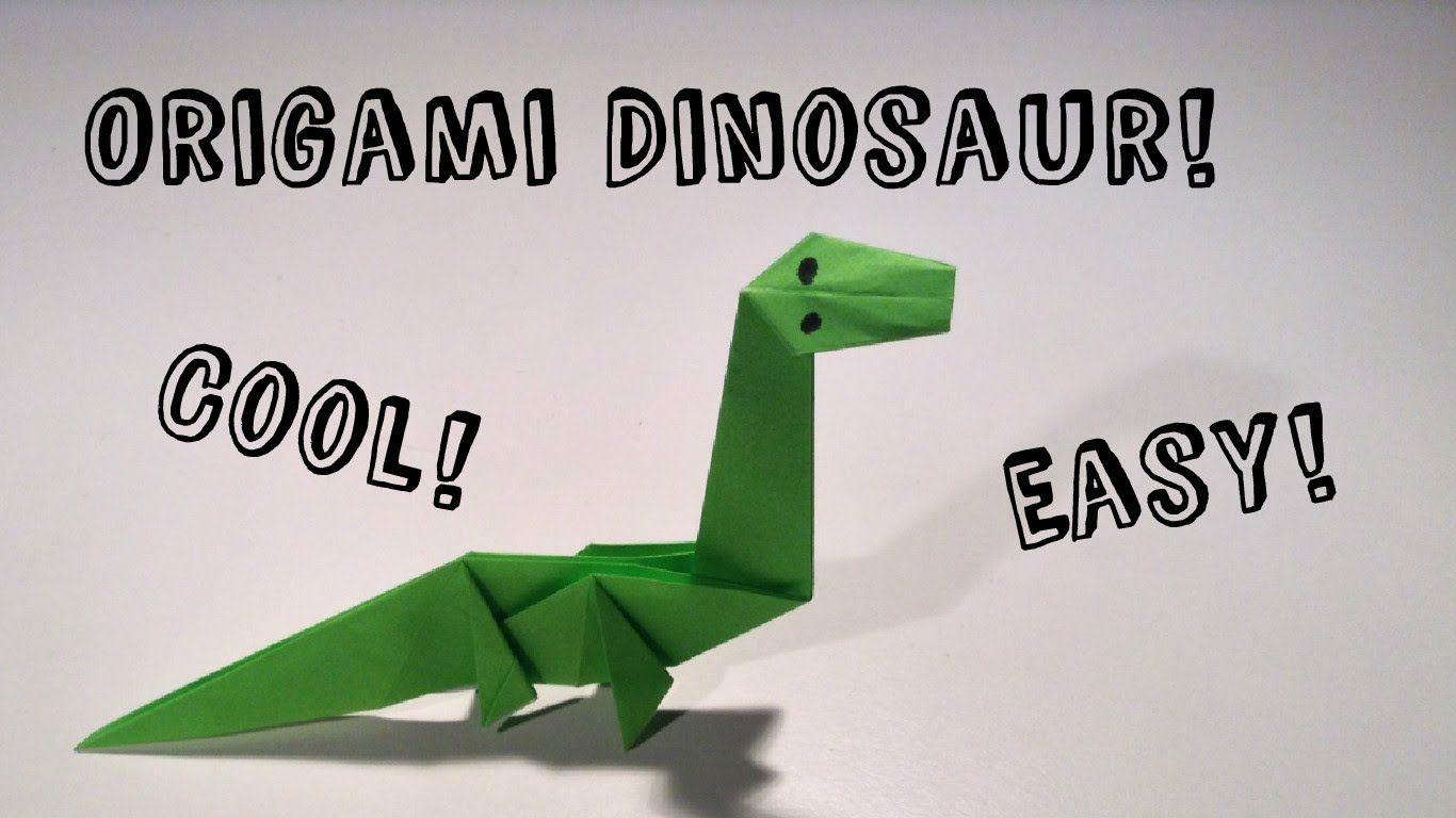 Easy Origami Dinosaur! | origami animals - name cards - photo#30