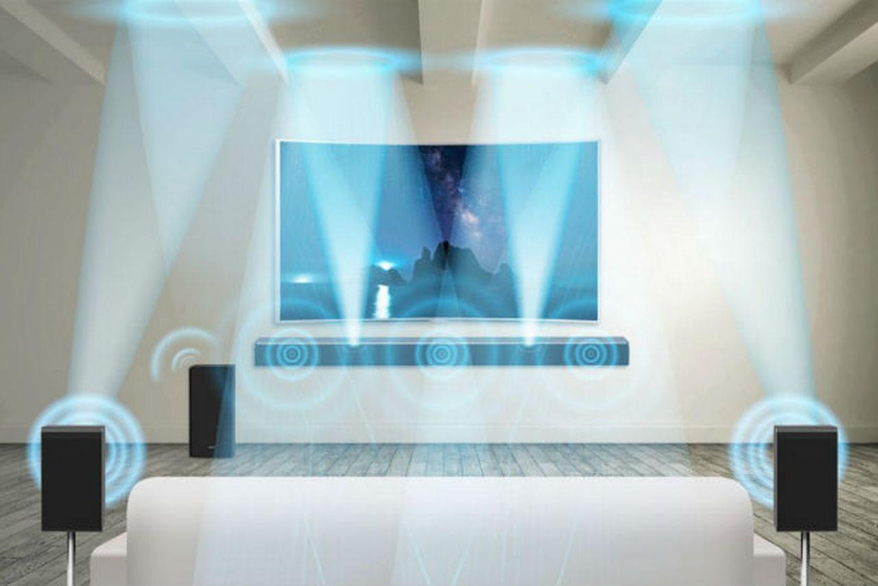 Samsung\'s Dolby Atmos \'soundbar\' uses two rear speakers to put sound ...