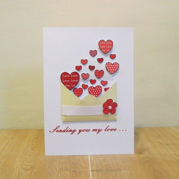 Luxury Handmade Sending You My Love Pretty Valentine S Day Card