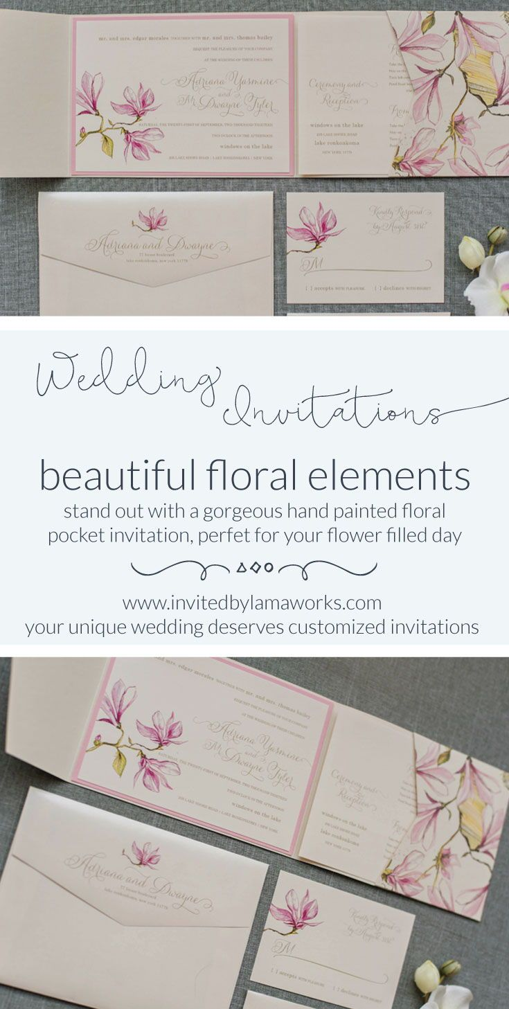 Adriana & Dwayne - Pink | Pinterest | Pink wedding invitations ...