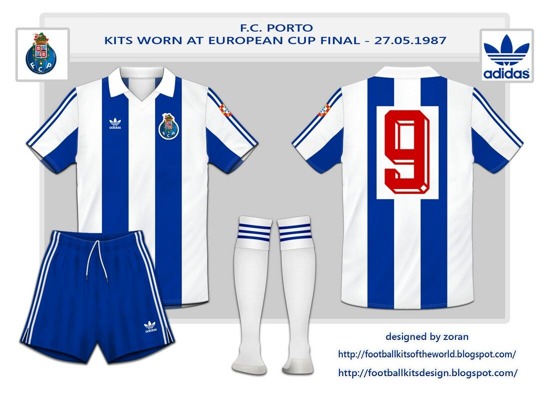 FC Porto home kit for the 1987 European Cup Final.
