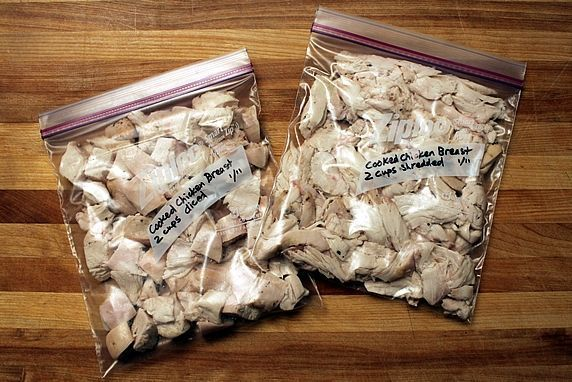 Chopped Shredded Roasted Chicken For Use In Other Recipes