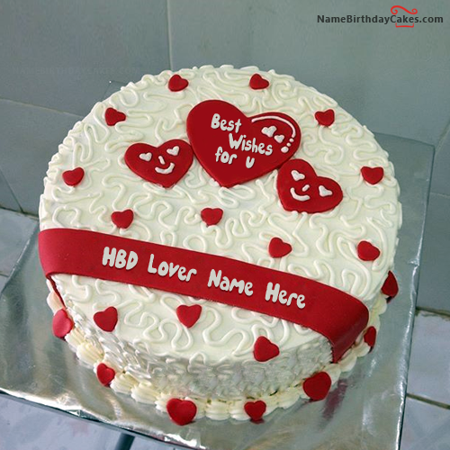 Happy Birthday Cakes For Lover With Name: Name Birthday Cakes For Lover