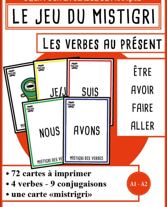 Mistigri Des Verbes Etre Avoir Faire Aller Mondolinguo Francais Verbe Etre Verbe Exercices Conjugaison