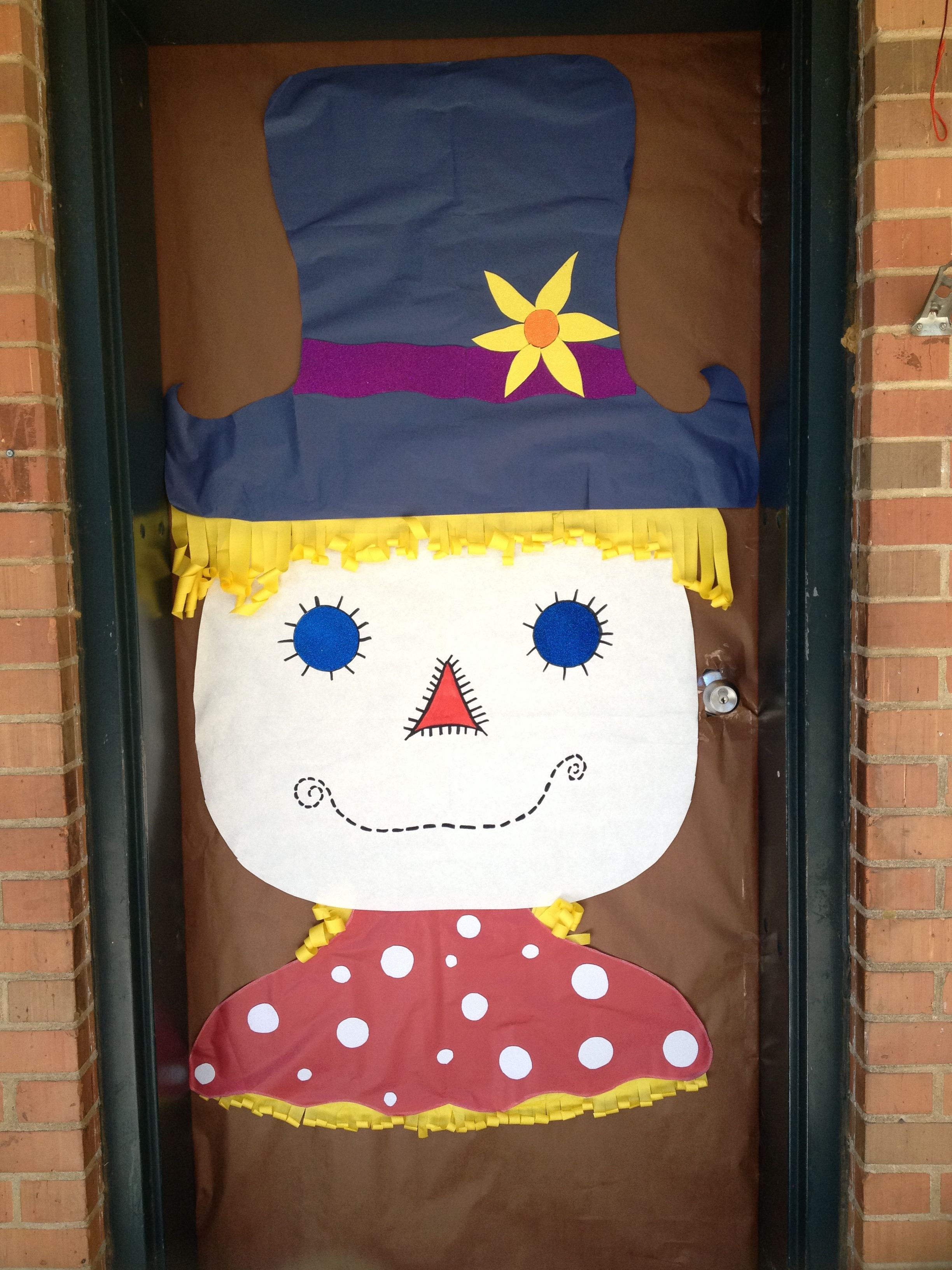 Scarecrow door decoration | Classroom Door ideas ...
