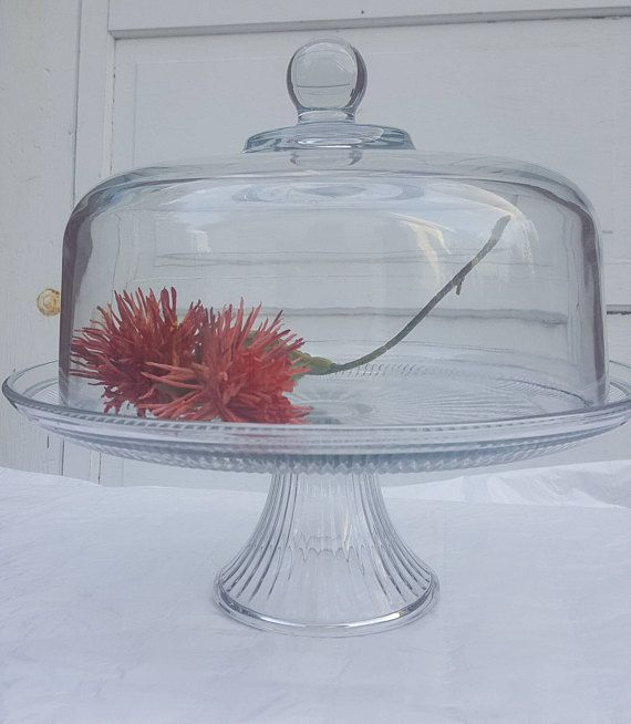 Antique Cake Plate or Stand Cake Stand with Dome Lid Vintage Cake Stand with & Antique Cake Plate or Stand Cake Stand with Dome Lid Vintage Cake ...