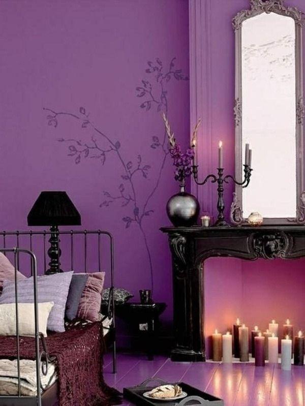 Interior Design Ideas The Purple Color In The Interior Decor10 Blog Purple Bedrooms Purple Bedroom Design Romantic Room Decoration Violet color bedroom ideas
