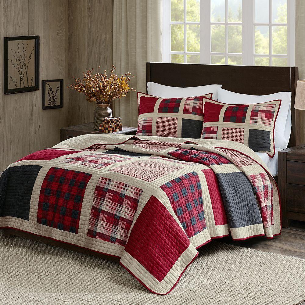 Woolrich 3 Piece Huntington Plaid Quilt Set Quilt Sets