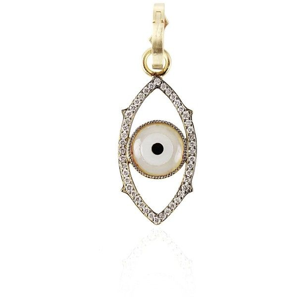 Sylva & Cie. Dark Green Evil Eye Charm