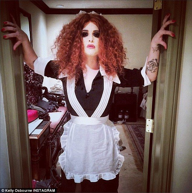Let S Do The Timewarp Kelly Osbourne Celebrated Her 30th Birthday By Dressing Up As Magenta From The Rocky Horror Picture Show At Her H Party Ideas Best Celebrity Halloween Costumes