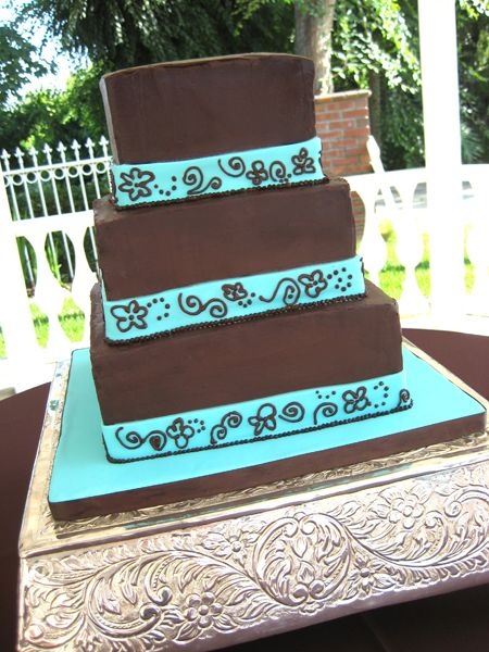 Brown And Turquoise Wedding Cakes My Sweet Saucy