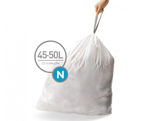 simplehuman BULK VALUE PACK code N custom fit liner 45-50 liter / 12-13 gallon, 400 pack - http://trashbagcoupons.com/glad-trash-bags/simplehuman-bulk-value-pack-code-n-custom-fit-liner-45-50-liter-12-13-gallon-400-pack/