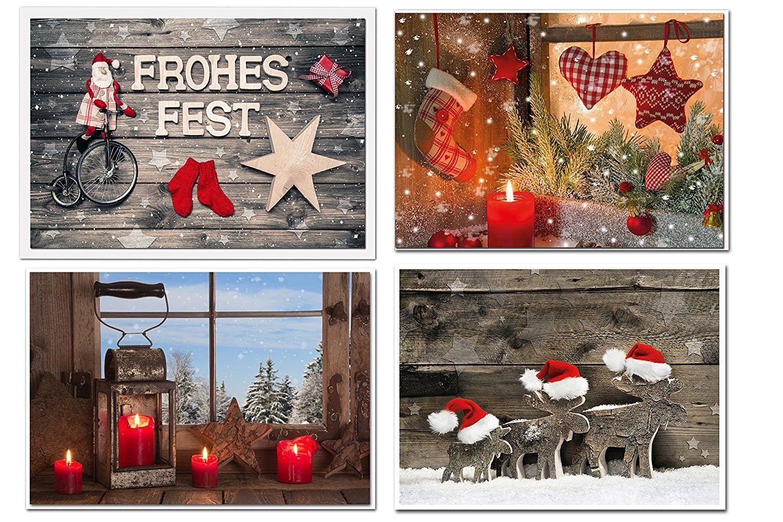 Landschaft Grußkarten Weihnachten Weihnachtskarten ohne Text mit Umschlag