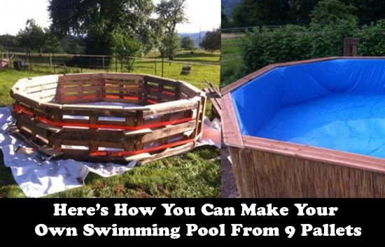 How You Can Make Your Own Swimming Pool From 9 Pallets Swimming Pools Pool Build Your Own Pool