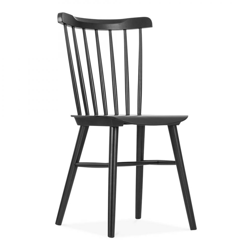 Beau Cult Living Windsor Wooden Black Chair | Dining Chairs | Cult UK