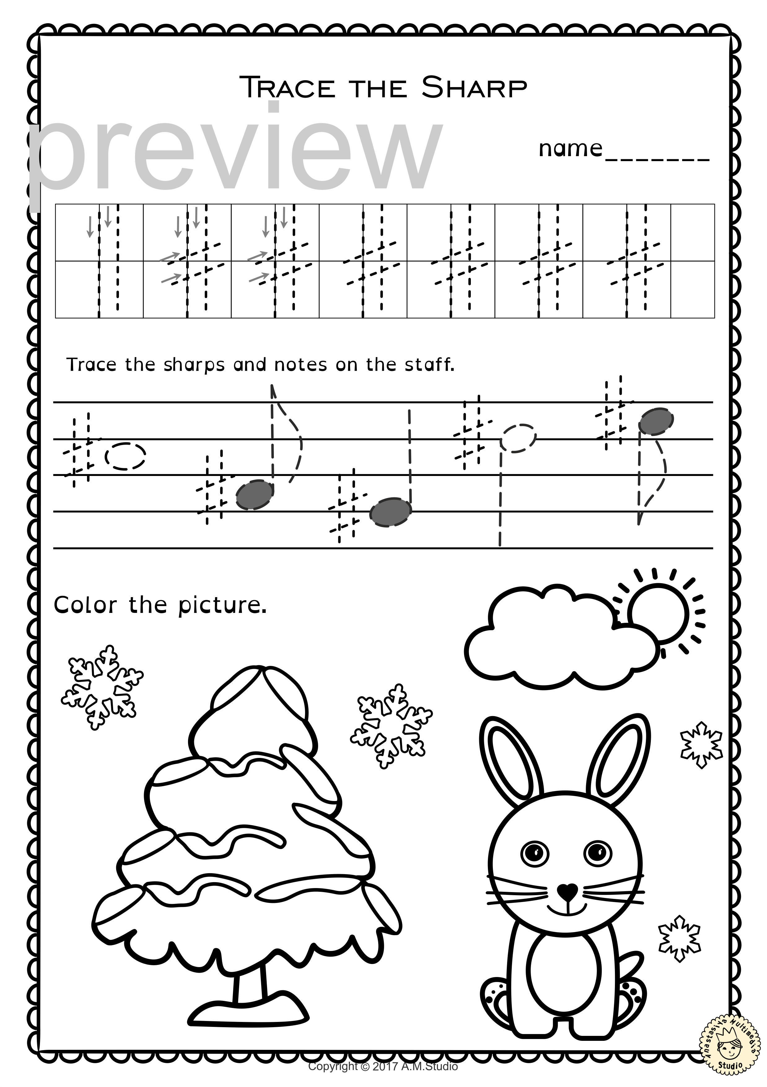 Pin On Tracing Music Notes Worksheets