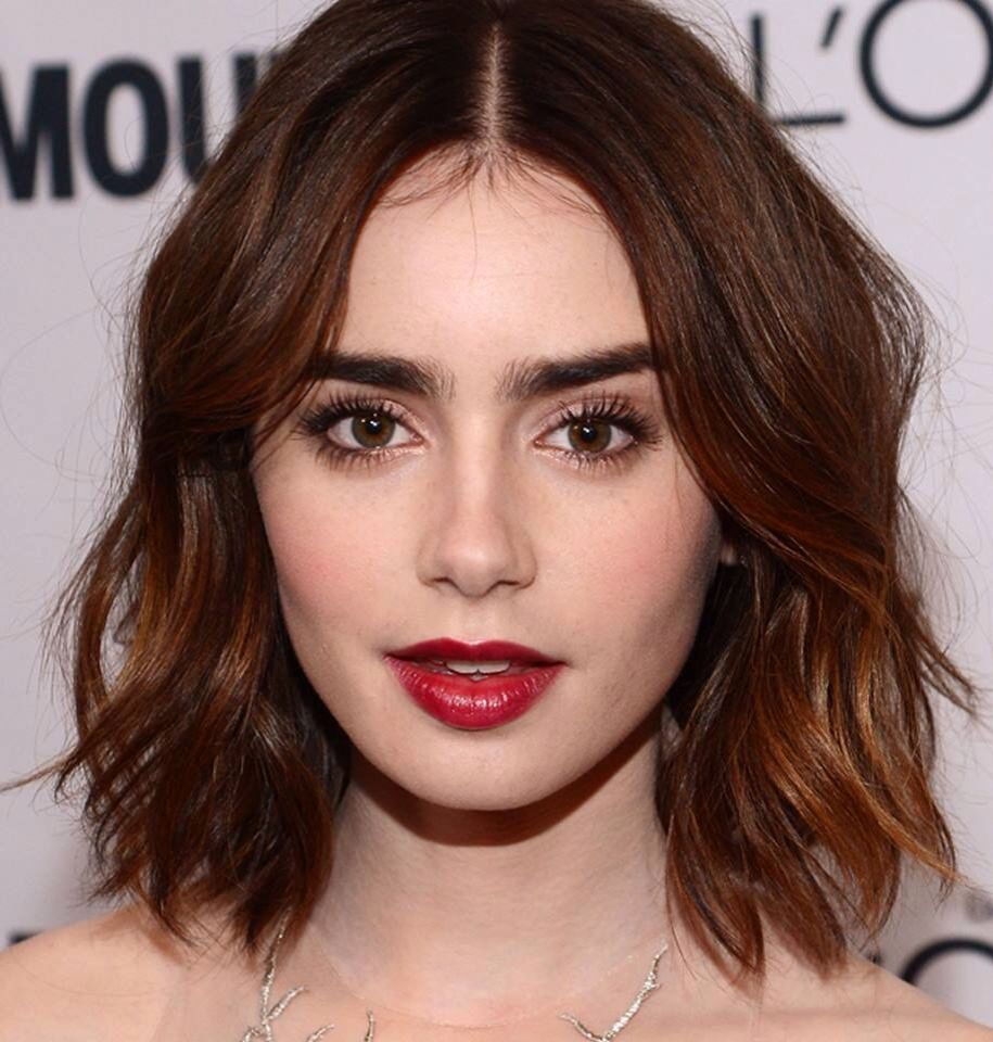 Love lily collins hair u makeup here hair pinterest lily