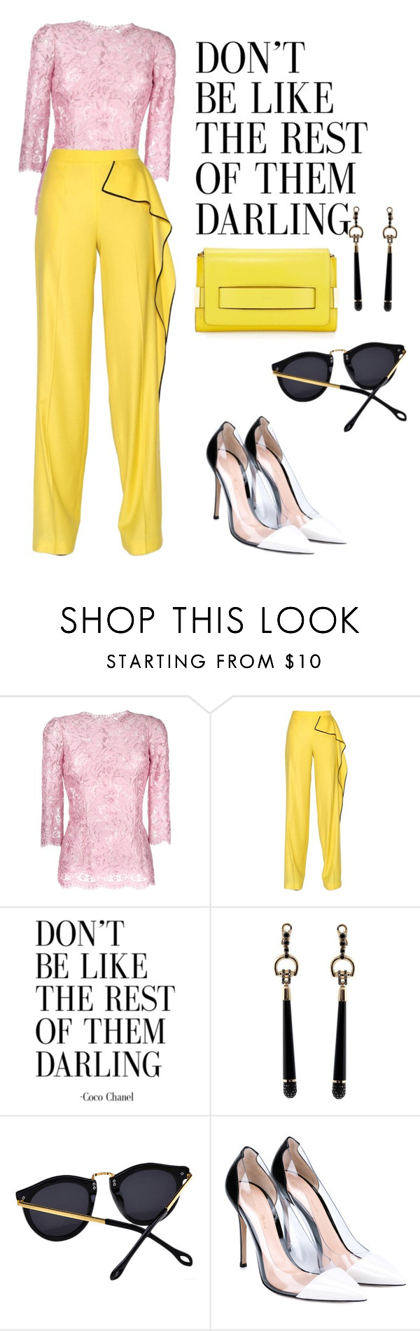 """""""NYFW"""" by omahtawon ❤ liked on Polyvore featuring Dolce&Gabbana, Vionnet, Gucci, Gianvito Rossi and Chloé"""