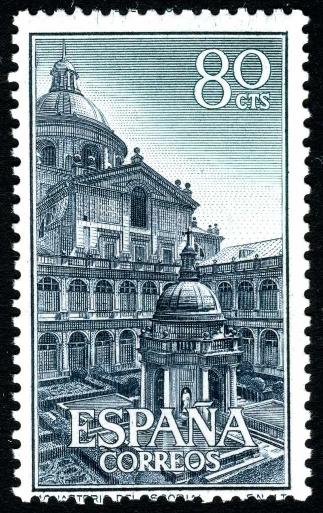 Spain 1961 Engraved By Manso Escorial Madrid Vintage Stamps Stamp Collecting Postage