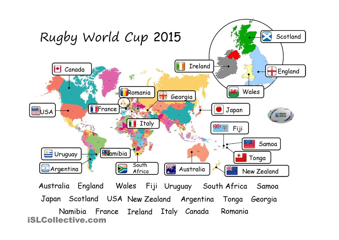 Rugby World Cup Esl Powerpoint Worksheet Of The Day