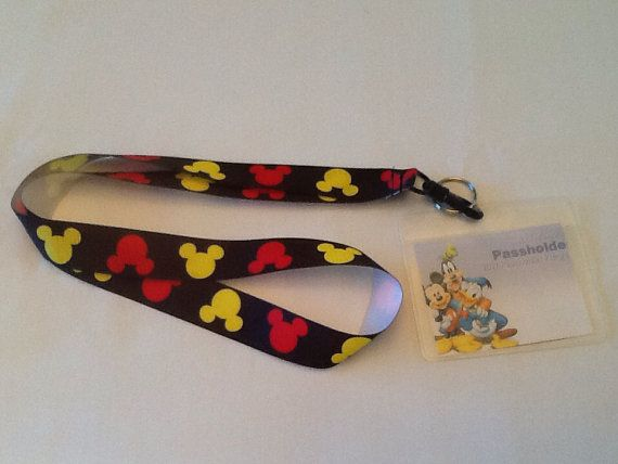 MICKY MOUSE HeadsLanyard with ID Holder great for Disney World on Etsy, $9.00