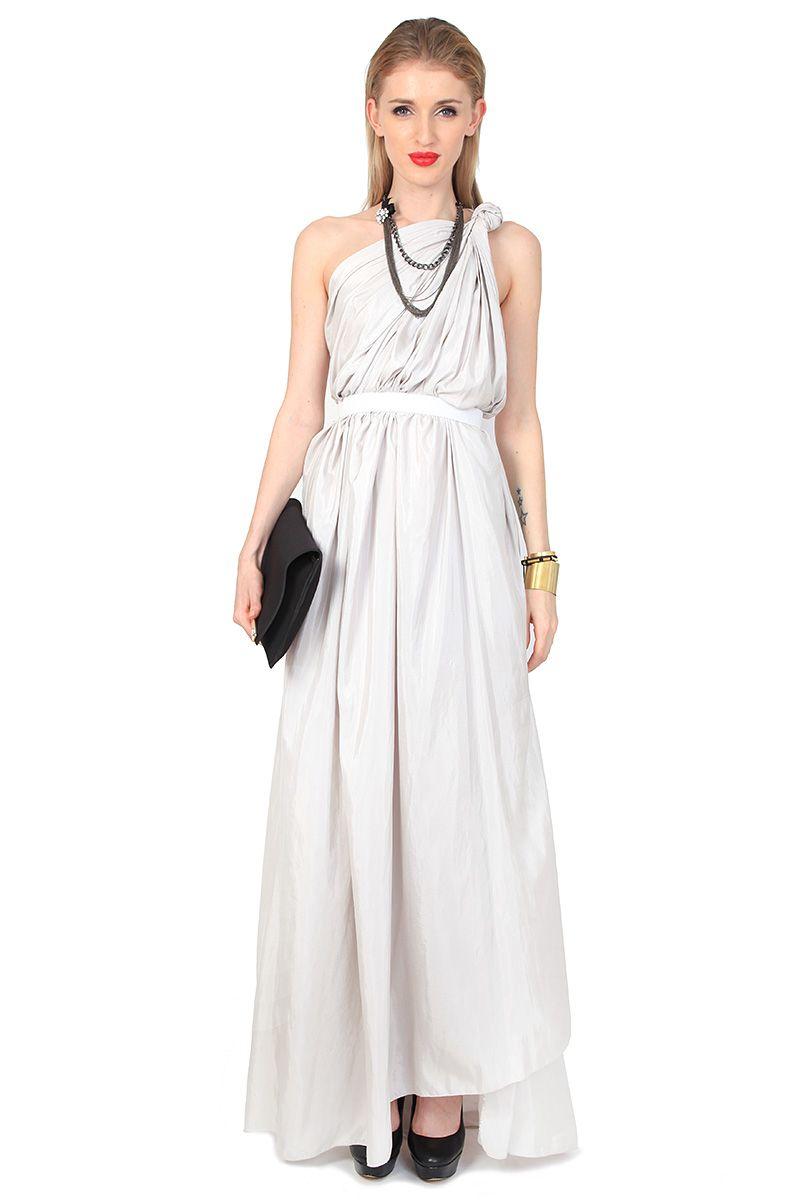ZENCHI Twist Toga Gown | ZENCHI in GNOSSEM | Pinterest | Gowns