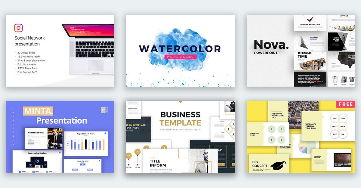 50 Best Free Powerpoint Templates On Behance Business