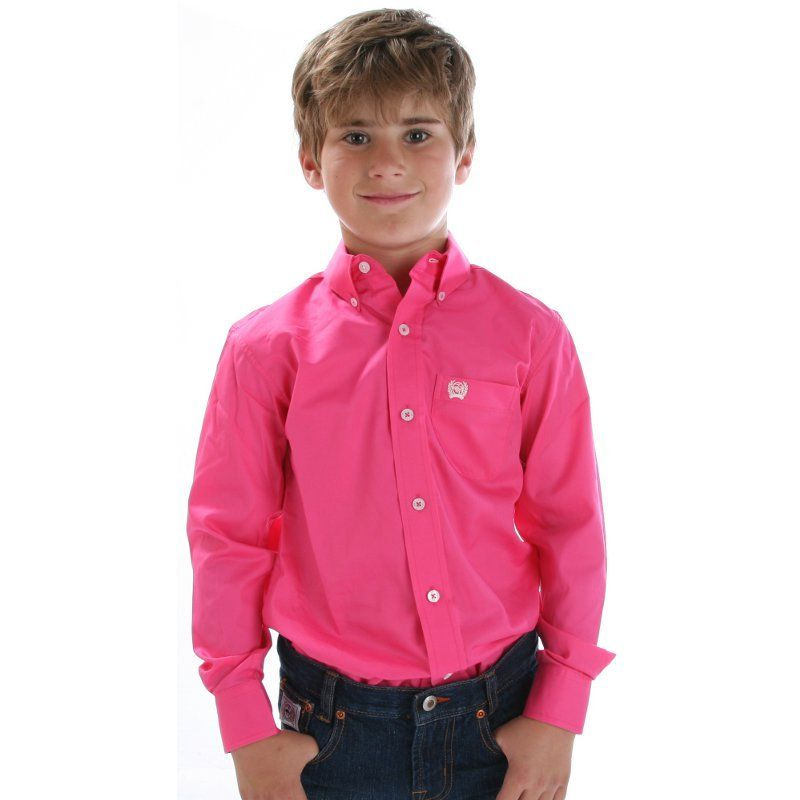 Boy's Cinch Solid Pink Button Down Shirt Item # MTW7060026 ...