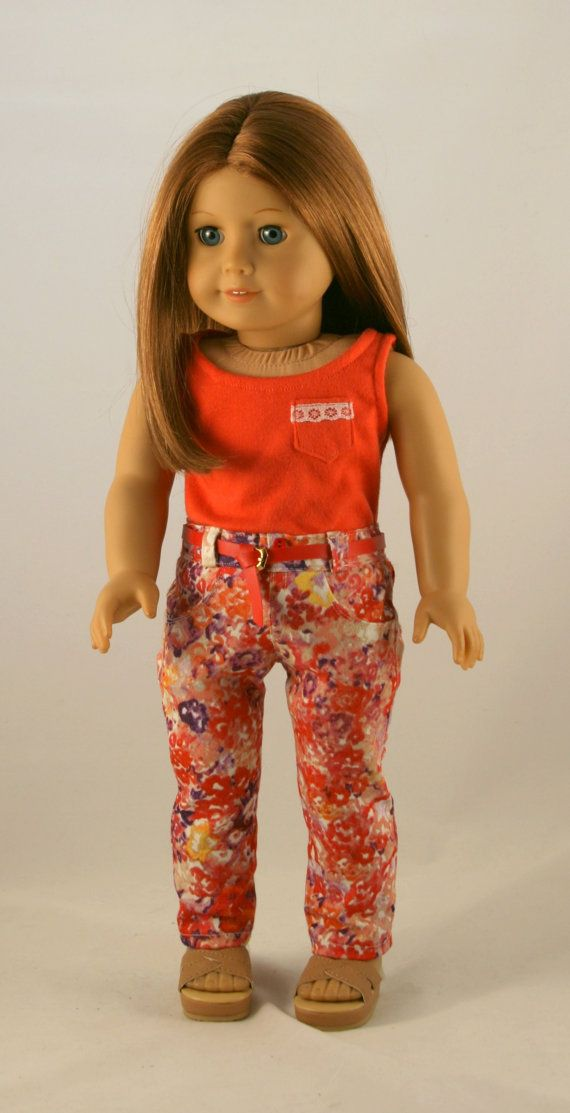 18 Doll Clothes fits American Girl Floral by Forever18Inches.