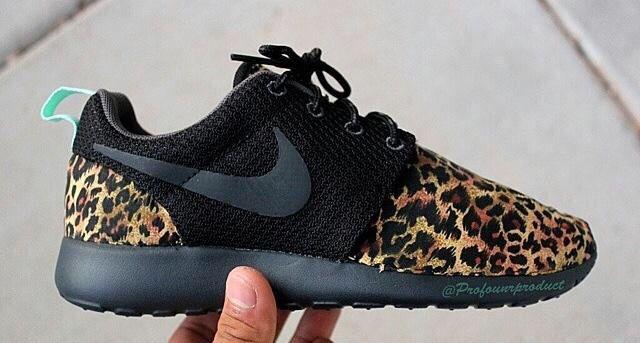 nike custom leopard