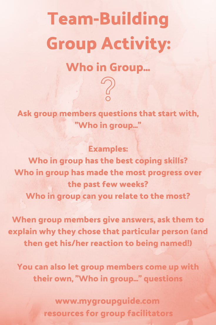 Pin on Group Therapy: Team Building