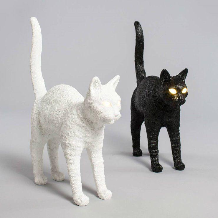 Cat Lamp Felix Blanc Lampe A Poser Led Sans Fl Tactile Chat Resine L46cm 230 00 Lampe Chat Lampe A Poser Lamp