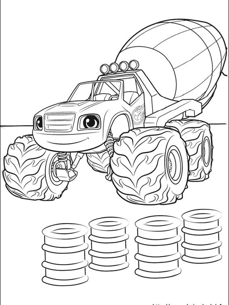 Blaze And The Monster Machine Free Coloring Pages Blaze And The Monster Machine Is An Anim Monster Truck Coloring Pages Free Coloring Pages Owl Coloring Pages