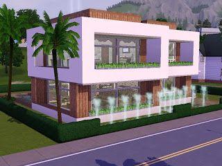 Sims 3 moderne häuser grundrisse  Sims 3 Haus Bauen Modern | The Sims houses | Pinterest | Haus ...