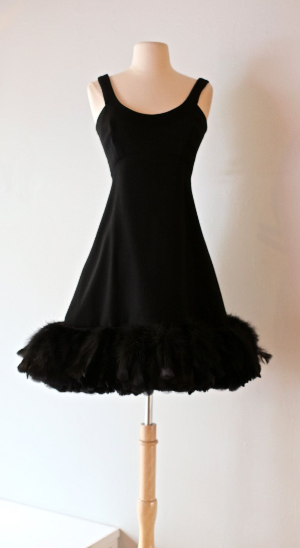 Vintage 1960 39 S Geoffrey Beene Cocktail Dress With Feather Hem Vintage 60s Mod Feathered Mini Dress Dresses Ball Dresses Mini Dress [ 1500 x 821 Pixel ]