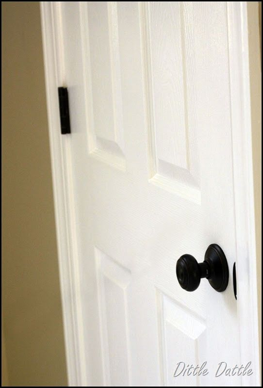 Painting hinges to match ORB door knob   HOME PROYECTS   Pinterest ...
