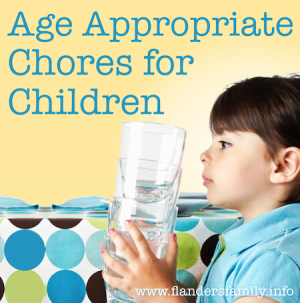 Age Appropriate Chores for Children (with free printable chart) | www.flandersfamily.info