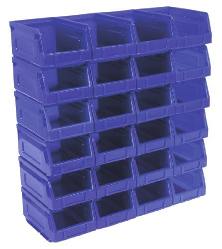 Sealey Plastic Storage Bin 105 X 165 X 83mm Blue Pack Of 24 Check Out This Great Product Plastic Storage Bins Storage Bin Storage