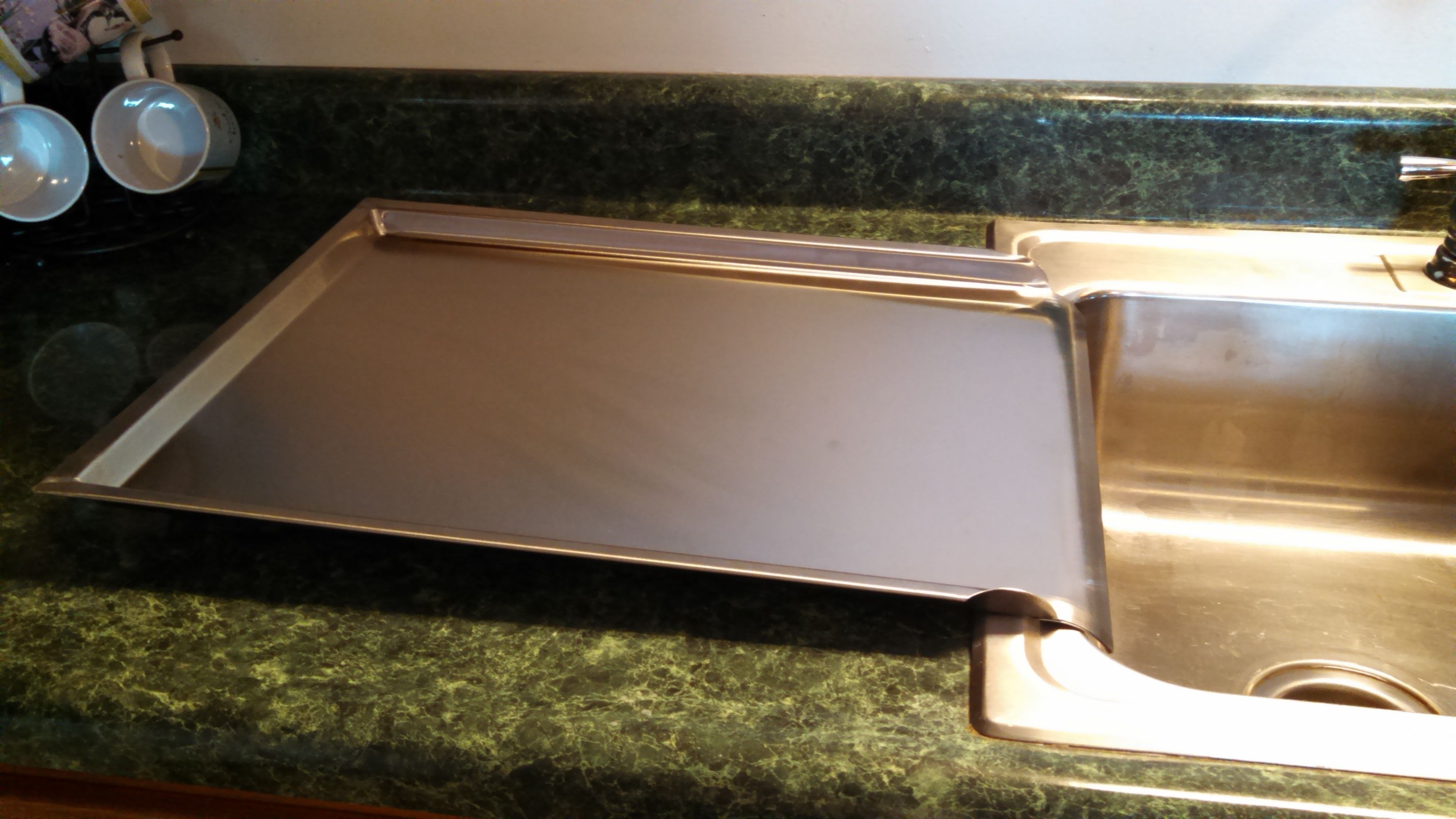 Durable 16 X 20 Stainless Steel Drainboard Amish Made 3 Raised Sides Stainless Steel Drainboard Kitchen Sink Drainboard Stainless Steel