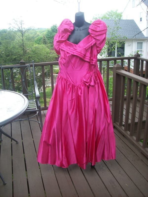 Vintage 80s Hot Pink Plus Size 3xl 4xl Prom Party Dress Best In Show