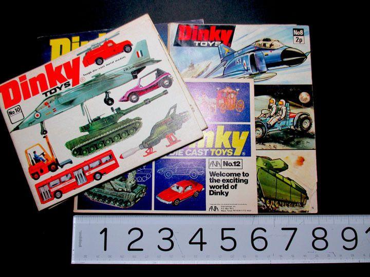 Dinky Toys Catalogue No 8 1972 No 9 1973 No 10 1974 No 12 1976  Pocket Lot 5 #Dinky
