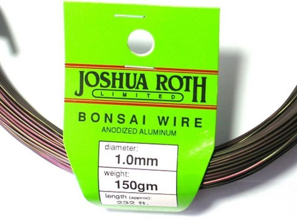 Bonsai Training Wire 1.0 mm 150 gm Coil Anodized Alum